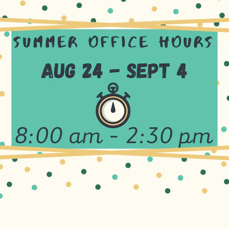 Summer Office Hours