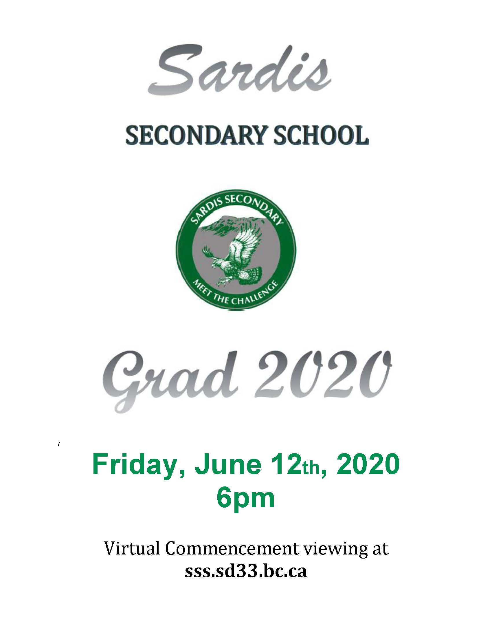 Sardis Virtual Grad Announcement